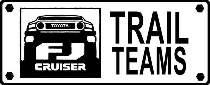 2pcs TOYOTA TRAIL TEAM FJ Cruiser Vinyl Decal Fender Sticker Graphic WHITE COLOR #Oracal