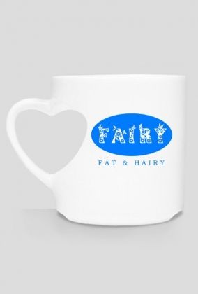 Fairy: Fat & Hairy! You can buy the heart-shaped mug here: https://blibli.cupsell.com/product/1935376-product-1935376.html And here is other merchandise with the same design: https://blibli.cupsell.com/k/fairy-fat-hairy