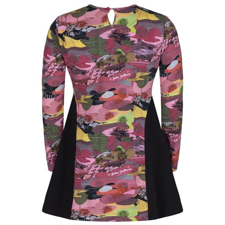 John Galliano Girls Multicoloured Camo Print Dress