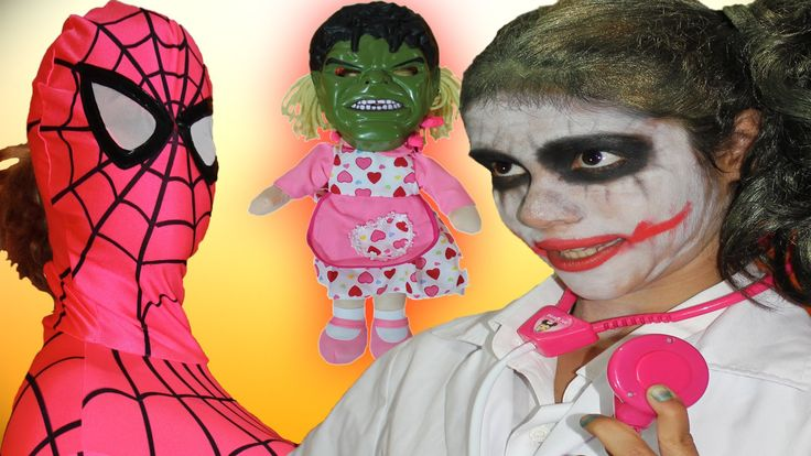 PREGNANT Spidergirl & Spiderman w/ Hulk vs DOCTOR Joker Superheroes in R...
