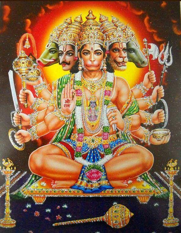 10 best panchmukhi hanuman images on pinterest hd photos hanuman and india - Panchmukhi hanuman image ...