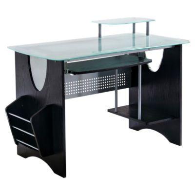 Negro ordenador compacto de escritorio con almacenamiento