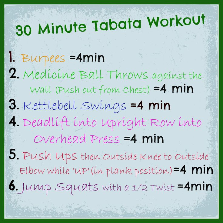 Tabata Workout ~ like it....but need to add some more.  :)