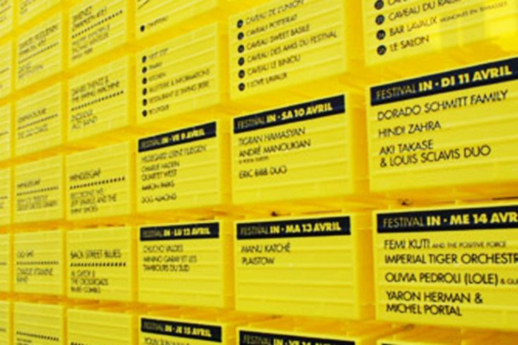 Signaletique du cully jazz festival