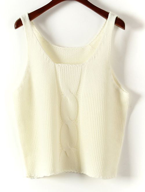 Wholesale Cute solid color cable design sleeveless pullover vests MS-P1871 - Lovely Fashion