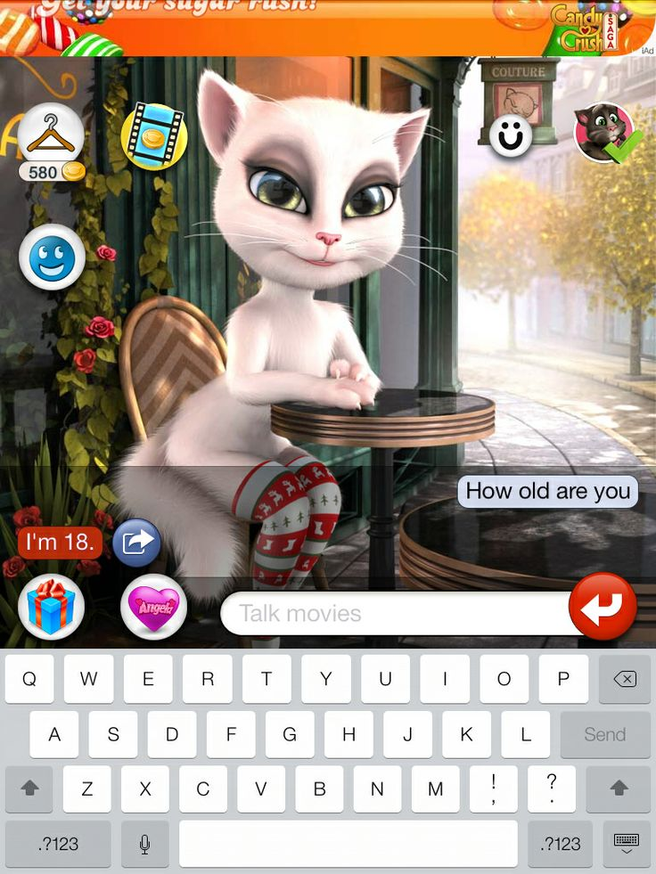 talking Angela never play the game because while I was