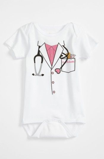 Infant Girl's Sara Kety Baby & Kids 'Doctor' Bodysuit #shopstyle