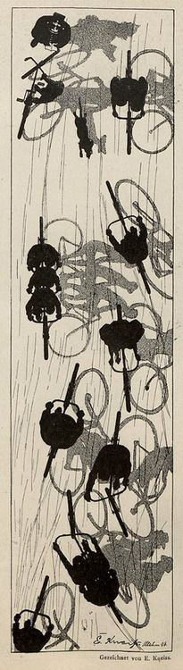 Emil Kneiss, Jugend magazine, 1896. rad racer wheels Bicycle bike cycle sykkel bicicleta vélo bicicletta rad racer wheels illustration posters graphics design biking ride cycling riding