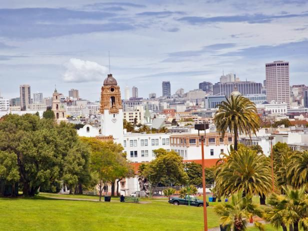Delores Park, Mission District, San Francisco