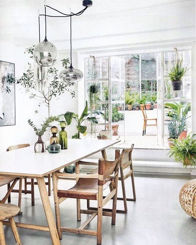 beautifully bright white dining space