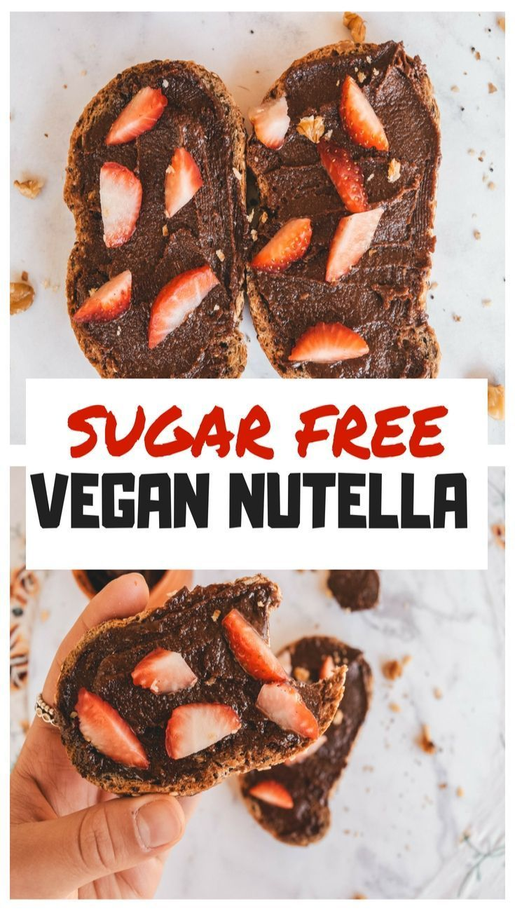 VEGAN NUTELLA RECIPE: SUGAR FREE + SUPER EASY