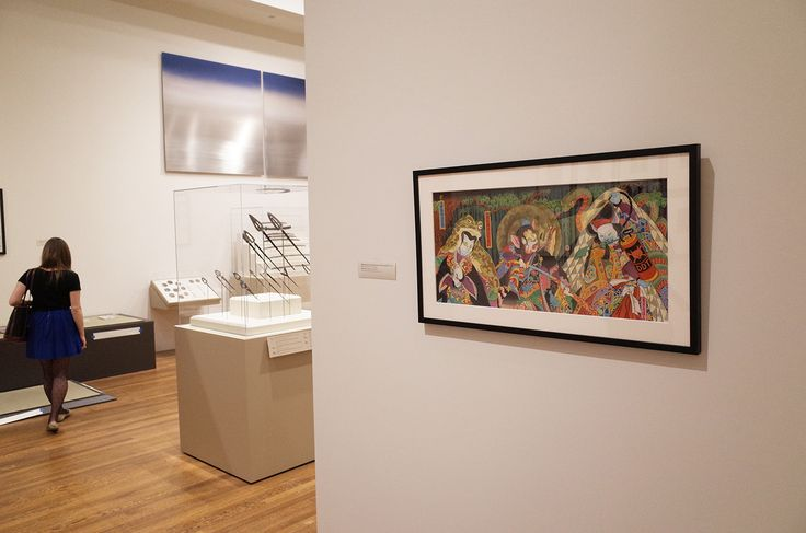 'Night Parade of 100 Demons/ Kasha and DDT' watercolor by Moira Hahn, in the 'Samurai!' exhibition at Worcester Museum, Worcester MA. Curated by Eric Nakamura of Giant Robot.