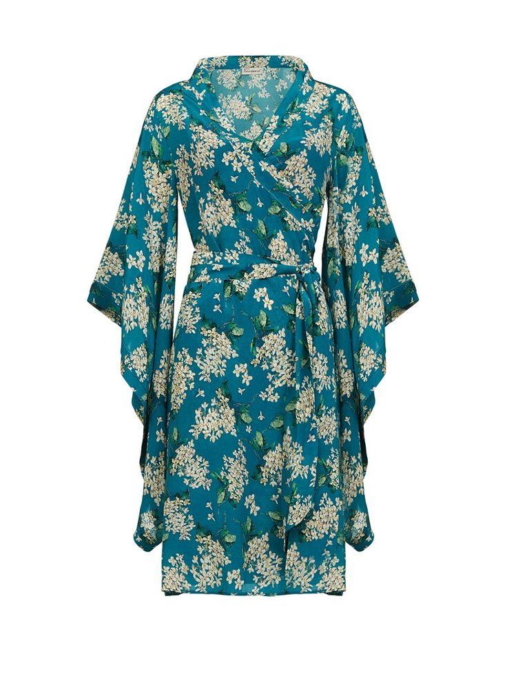 Bombshell Liberty Archive Lilac Silk Print Kimono Wear