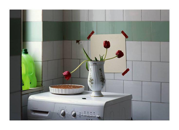 Three tulips and a cake in the bathroom © Peter Puklus/Robert Morat Galerie - Read more: http://www.unseenamsterdam.com/unseen-collection-sneak-peek-peter-puklus #Unseen2013