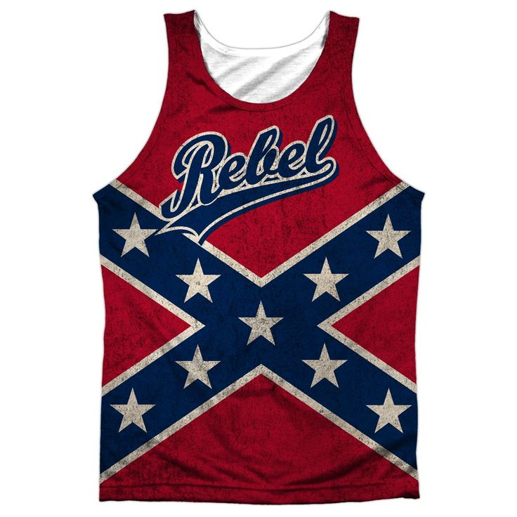 """Checkout our #LicensedGear products FREE SHIPPING + 10% OFF Coupon Code """"Official"""" Rebel Flag -adult Poly Tank T- Shirt - Rebel Flag -adult Poly Tank T- Shirt - Price: $24.99. Buy now at https://officiallylicensedgear.com/rebel-flag-adult-poly-tank-t-shirt-licensed"""