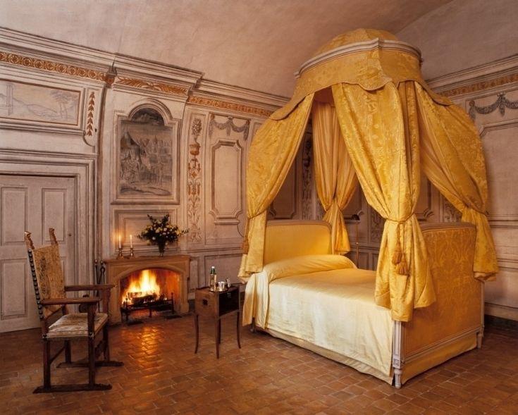 Bedroom, Castle Château De Bagnols (built Century), Hotel Near Lyon, France