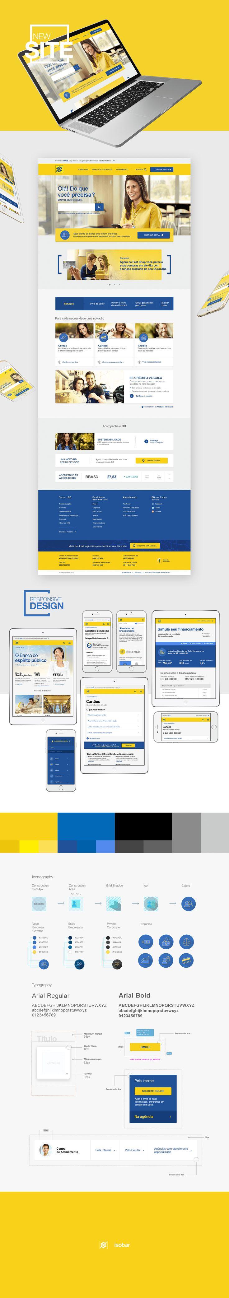 Responsive Portal Banco do Brasil on Behance