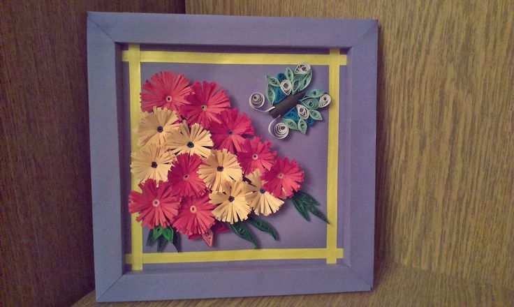 #quilling #butterfly #flowers
