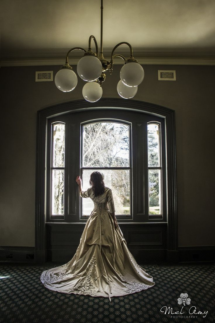 """When Will You Return"" Model: Mollie Quirk Photographer/Costuming: Mel Shipard of Mel Amy Photography A big thanks to the lovely folk at the old May Day Hills asylum for allowing us access to this... #bride #bridal #wedding #dress #fashion"
