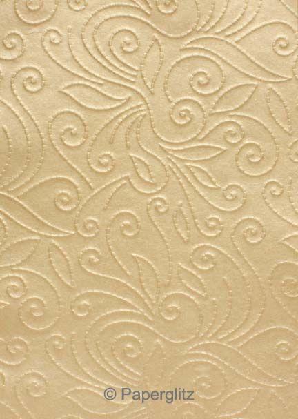 Handmade Embossed Paper - Elyse Mink Pearl A4 Sheets