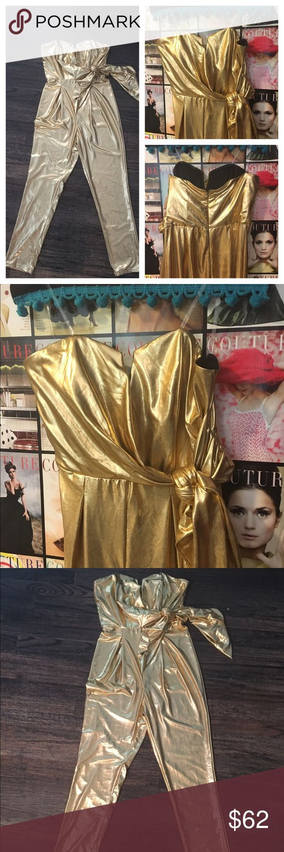 Nwts Nordstrom gold szS jumpsuit💰 Brand new Nordstrom gold jumpsuit has stretch size small.  Brand new tags still attached. You know you need it💰 Mustard Seed Other