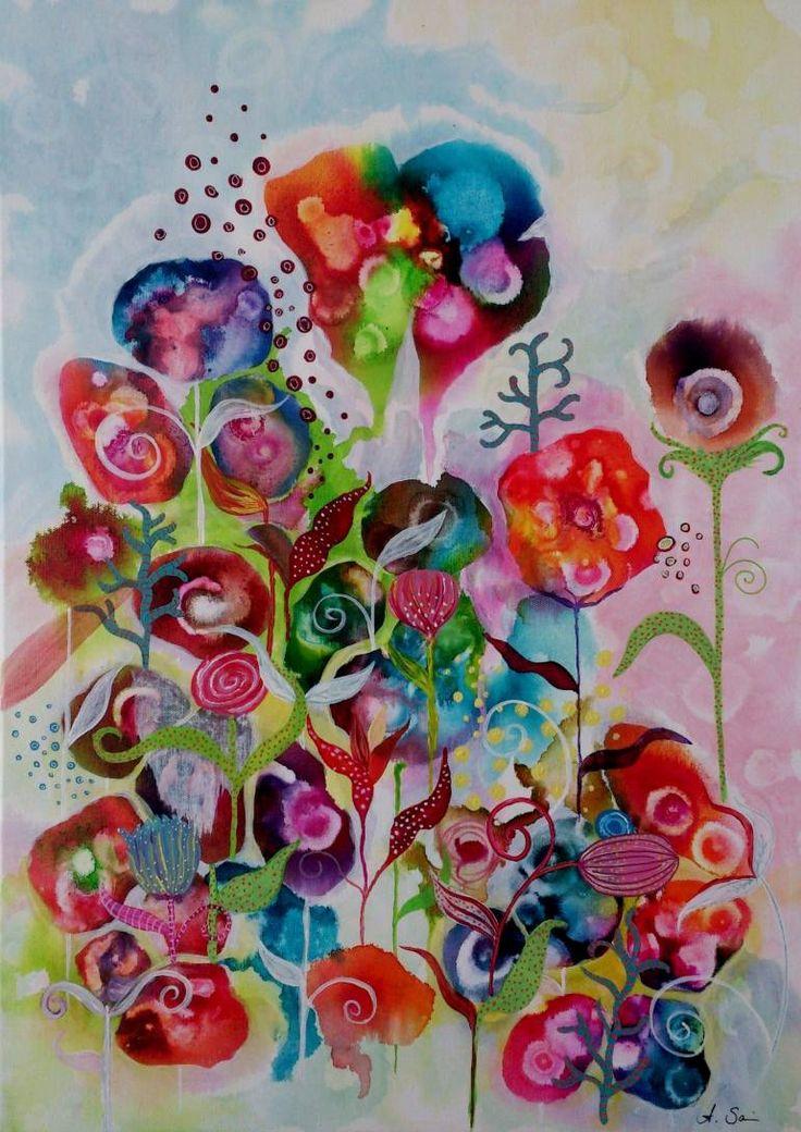 """Saatchi Art Artist Anja Saier; Painting, """"untitled"""" #art"""
