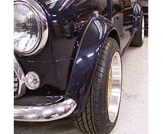 Mini Sportspack Fibreglass Replica wheel arches for Classic Mini - Huddersfield Spares Limited
