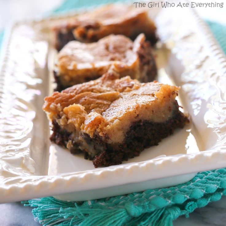 Peanut Butter Chocolate Gooey Butter Cake | Recipe | Here ...