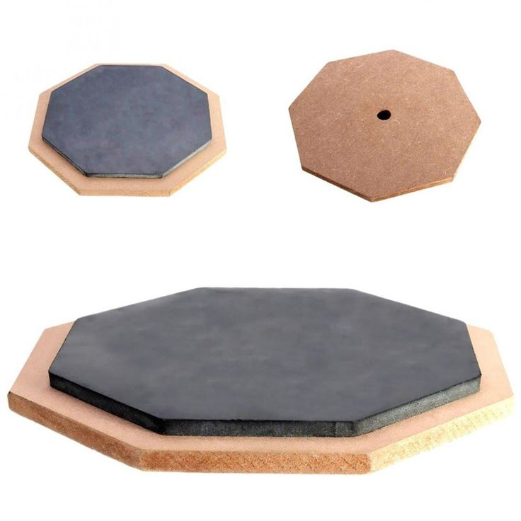 Drum Pad Wooden Rubber Percussion Practice Pads Musical Parts Accessories New #Unbranded