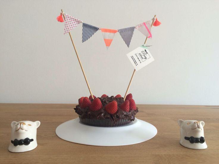 Gallardetes en tela para pastel de cumpleaños #101ideasco