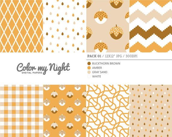 Digital Paper Brown 'Pack01' Chevron Gingham Drops by ColorMyNight