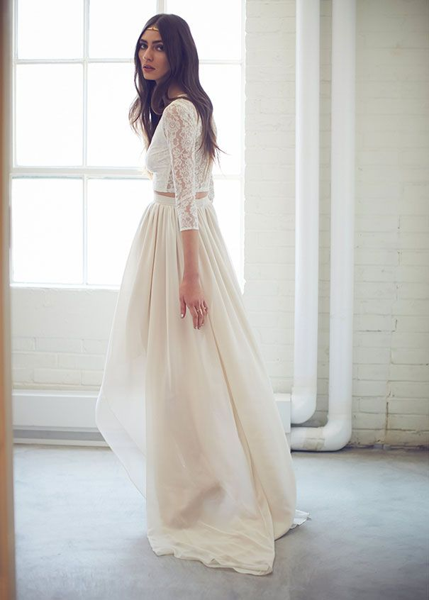 16 Stunning Bridal Separates That Ll Change What You Think About Wedding Dresses Weddingness Pinterest And