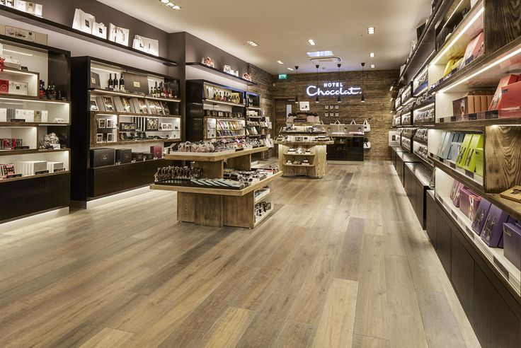 Hotel Chocolat's new store in Manchester uses Havwoods RECM3080 Reproduction Reclaimed Oak