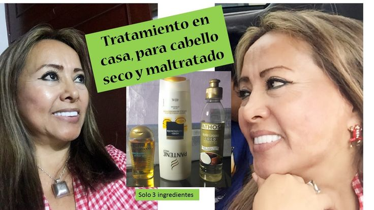 Tratamiento en casa, para  cabello seco y maltratado (Home Treatment for...