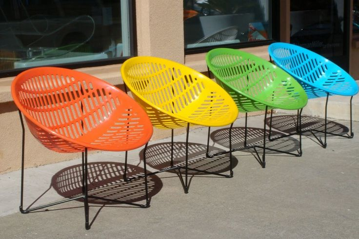 Furniture Garden Outdoor Chair Furniture Solair Red Yellow