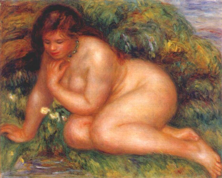 Bather Admiring Herself in the Water, Pierre-Auguste Renoir