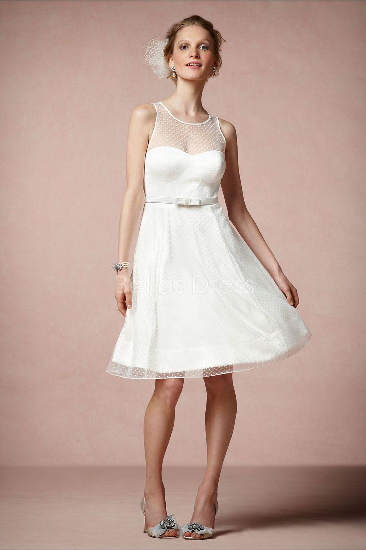 knee-length-jewel-a-line-tulle-with-sash-ribbon-sweet-wedding-dress_
