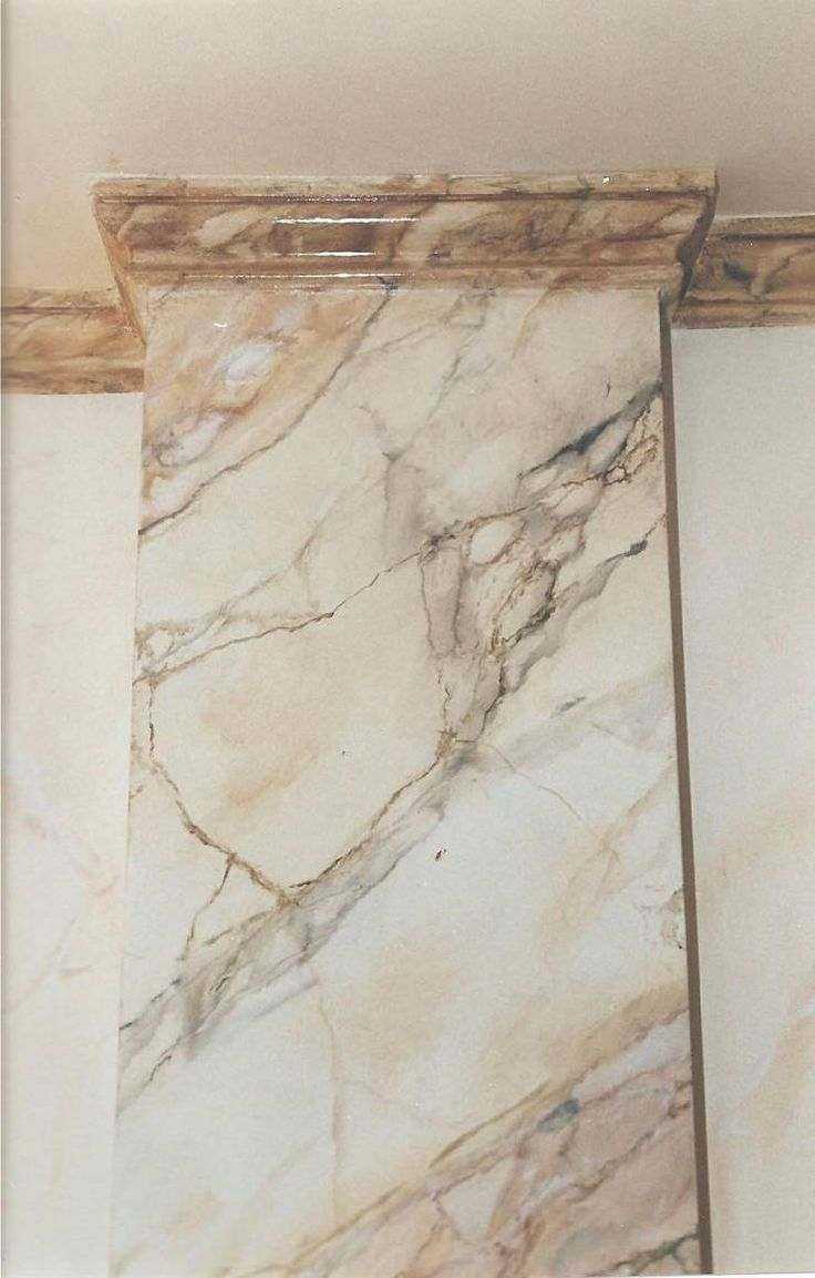 14 best painted columns images on pinterest columns for Faux marble painting techniques