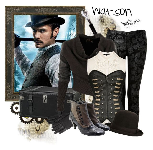 Watson Inspired Outfit by rubytyra on Polyvore featuring Topshop, Forever New, TO&CO., Ralph Lauren Home, Costa, Vivienne Westwood Anglomania, MICHAEL Michael Kors, ankle boots, steampunk and boots