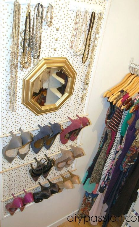 s 14 space saving storage ideas that ll make your house feel much bigger, storage ideas, Put up a vertical organizer in your closet