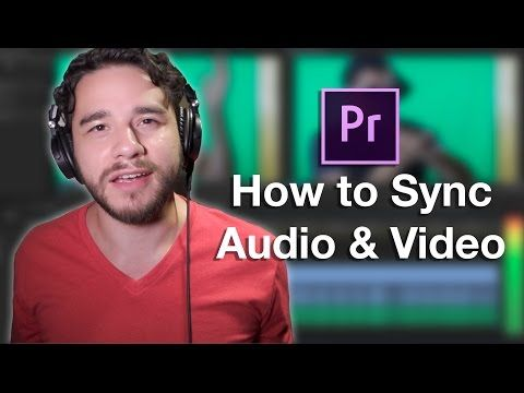How to Sync Audio to Video in Premiere Pro - YouTube
