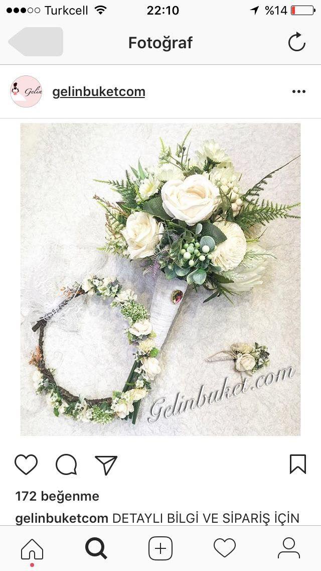 Beyaz gül gelin buketi gelin çiçeği