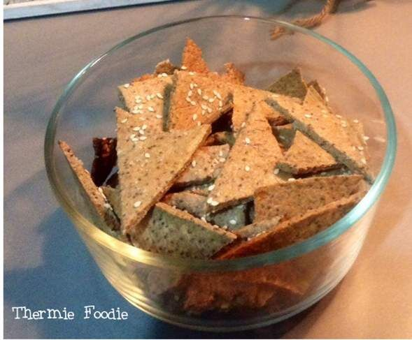 Recipe Simple Seed Crackers. Gluten Free, Grain Free, Nut Free, Dairy Free, Egg Free. by Thermie Foodie - Recipe of category Baking - savoury