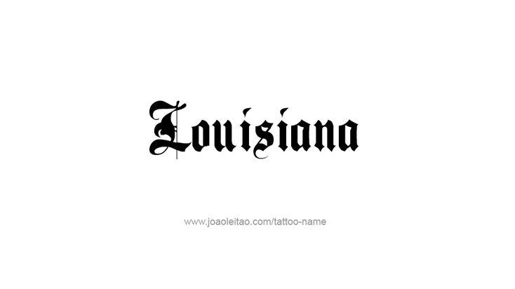 Diseño del tatuaje de EE.UU. Estado Nombre Louisiana