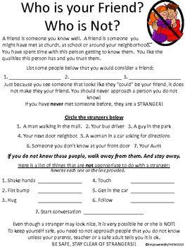 Friends Social Skills Worksheets