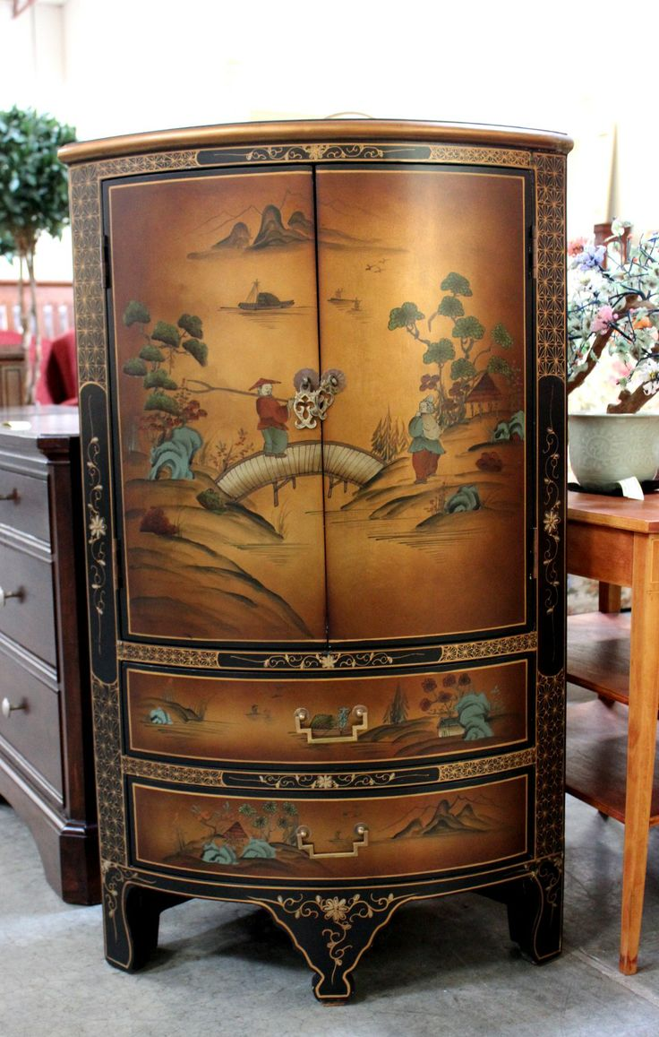 Asian Corner Cabinet (11130-14) - Consignment Northwest ...