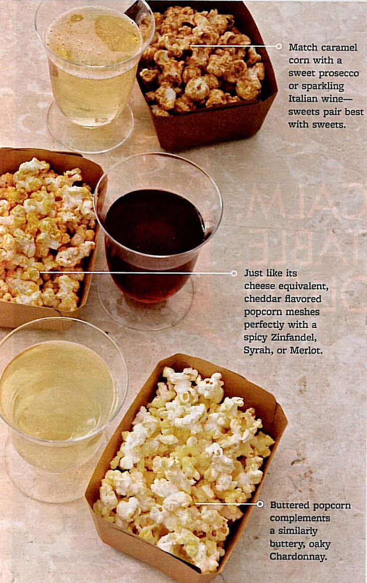 Popcorn and wine pairings - I cannot freaking believe this exists.  My two favorite things together at last.