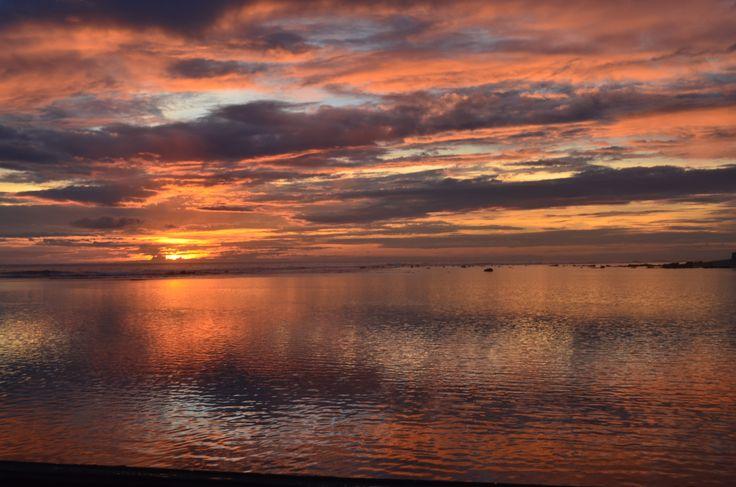 Port de Saint Pierre, coucher de soleil