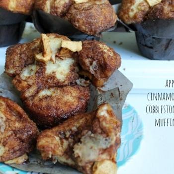Apple Cinnamon Cobblestone Muffins