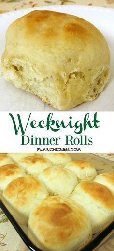11 best bread images on pinterest banana bread recipes breads and weeknight dinner rolls you can have homemade rolls any night of the week this forumfinder Images